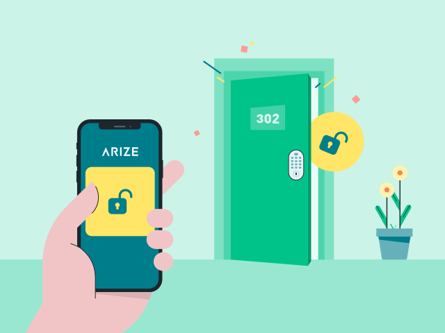 Arize offers property managers and apartments with smart lock door access