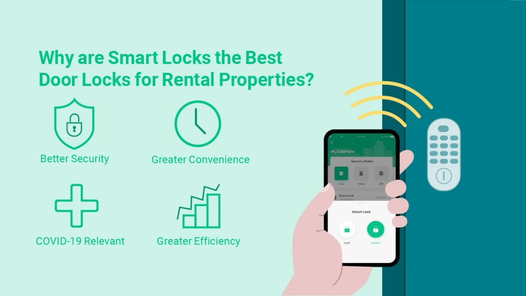 Why are smart locks the best door locks for rental properties? They offer better security, greater convenience, safety during COVID-19, and greater efficiency for property managers and tenants.